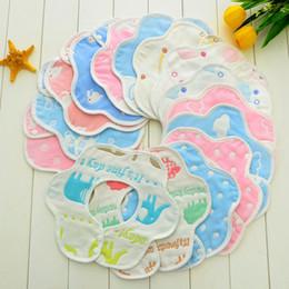 kann 23 Rabatt Neue heiße Baumwolle 23 Schichten Babylätzchen können gedrehtes Blumenblatt Lätzchen 300pcs / lot T2I049 sein