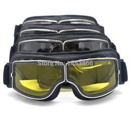 2019 motocicletas a jato Alta Qualidade Óculos de Proteção Da Motocicleta  Moto Piloto Óculos De Couro a7acd4f5da