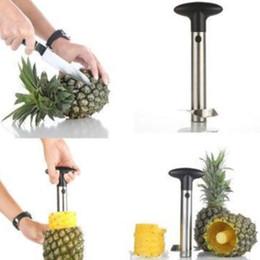 Buenos cuchillos de cocina online-Creativo de Acero Inoxidable Fruta Piña Corer Piña Cortadoras Herramientas de Cocina Piña Peeler Parer Cuchillo de buena calidad