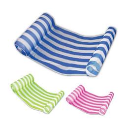 2019 schwimmbad aufblasbare stühle 2018 3 Farben Sommer Schwimmbad Aufblasbare Schwimmende Wasser Hängematte Lounge Bett Stuhl Sommer Aufblasbare Pool Float Schwimmende Bett CCA9568