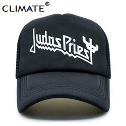 4640ca8c27987 CLIMATE Men Women Trucker Caps Judas Priest Rock Band Cap Men Rock Music  Fans Hot Summer Black Baseball Mesh Net Trucker Cap Hat