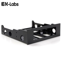 hub controller Promo Codes - En-Labs 3.5 to 5.25 Floppy to Optical Drive Bay Mounting Bracket Converter for Front Panel,Hub,Card Reader,Fan Speed controller
