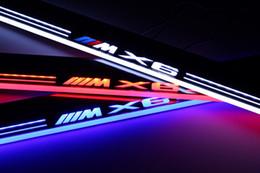 tábuas em movimento Desconto Acrílico à prova d 'água Moving LED Bem-vindo Pedal Scuff Plate Pedal Da Porta Do Pedal Caminho Luz Para BMW X6 E71 2010-2015