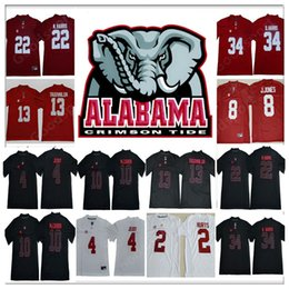 2019 negro camiseta de julio jones 2019 Alabama CrimsonTide NCAA JerseyS Namath Jeudy N. Harris McCARRON D harris Julio Jones TAGOVAILOA Camisetas de colegio sr negro negro camiseta de julio jones baratos