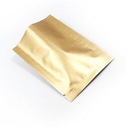 хранение вакуумного уплотнения Скидка 200 Шт. / Лот 8 * 12 см Матовый Clossy с Открытым Верхом Чистая Алюминиевая Фольга Пакет Мешок Пищевых Продуктов Хранения Mylar Вакуумная Печать Упаковка Мешок