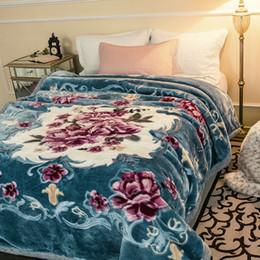 La coperta della regina è morbida online-Qualità di lusso doppio strato Raschel Mink Blanket 8.8lbs Queen Size Fluffy Chunky tiro caldo molle eccellente Primavera Inverno Bed Blanket