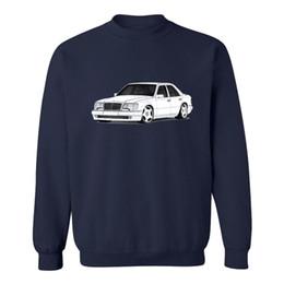 Sudadera coche online-coche mercedes w124 sudaderas hombres 2018 tapas de algodón novedad sudaderas streetwear hombres casual sudaderas personalizadas de manga larga Tumblr