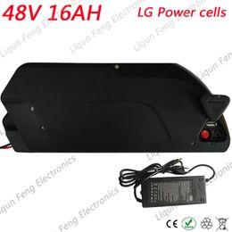 Batterie de vélo électrique 48V 16AH Dolphin Type Batterie avec chargeur + Interface USB Kit de conversion de vélo Ebike E Batterie Utiliser la cellule LG ? partir de fabricateur