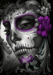 figura de la señora Rebajas Kexinzu Completo Diamante Cuadrado 5D DIY Pintura Diamante Terror Cráneo Bordado de punto de Cruz Rhinestone Mosaico Pintura Decoración
