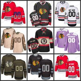 Custom Mens Women Youth Chicago Blackhawks 2 Duncan Keith 19 Jonathan Toews 88 Patrick Kane 81 Marian Hossa 7 Brent Seabrook Maglie S-3XL da
