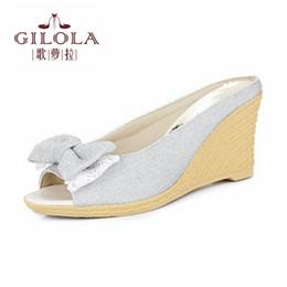 Wholesale Best Platform Shoes - new size 34-43 platform lady open toe wedge high heels women sandals spring summer women's shoes woman flowers best #Y0732806F