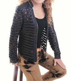 Wholesale ladies leather jackets sale - 2015 New Plus size Summer Women's Motorcycle PU Lace Patchwork Faux Leather Jackets Lady Short Coat Outerwear Hot Sale