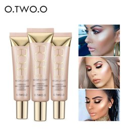 Wholesale Making Textures - O.TWO.O Highlighter Creams Face Make Up Waterproof White Contour Shimmer Glow Brighten Liquid Highlighter 3color Creamy Texture