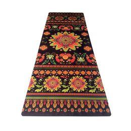 Kişilik baskı yoga mat kauçuk kaymaz kadife seyahat ped spor çiçek mat Siyah ulusal tanrıça ped doğrudan satış nereden