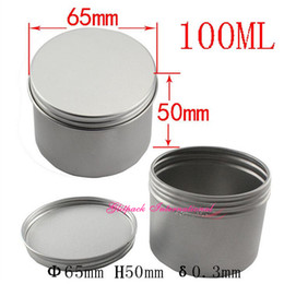 Wholesale can candles - 80 pack 100ml Alumium Canning Jars 3.5oz Tea Tin with Airtight Lids Small Candle Tin Seamless Deep Body Can tin with Screw on Lids 100g