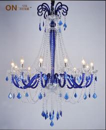 Lustres de cristal preto barato on-line-Barato K9 Candelabro de Cristal Da Lâmpada com Vela em Vermelho / Azul / Ouro / Preto para sala de estar sala de jantar lustres de cristal luzes de Decoração Lustres
