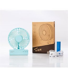 Wholesale Ion Fan - Portable Speed Cooling Fan Creative Mini USB Atmosphere Light Fan With Li-ion Rechargeable Battery Multifunctional Silent 3 Gears Fan