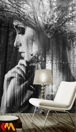 Wholesale Figure Wallpaper - photos background wallpaper Customize European Abstract figure wall-papers-home-decor Wallpaper For Living Room Decorative pain