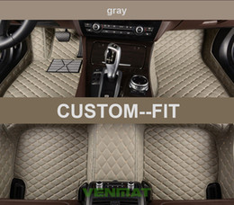 Wholesale Bmw Floor - Veeleo+Custom-Made 6 Colors Leather Car Floor Mats for All Car All Series 7 Seats All Weather Waterproof Anti-slip 3D Car Mats Carpets Liner
