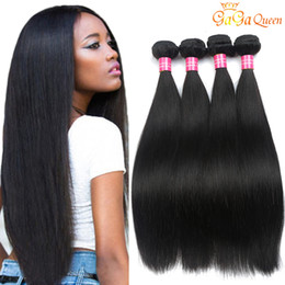 Wholesale Wholesale Only - Brazilian Virgin Hair Straight 4 Bundles 8a Unprocessed Brazilian Straight Hair Weave Bundles 100% Brazilian Straight Human Hair Extensions