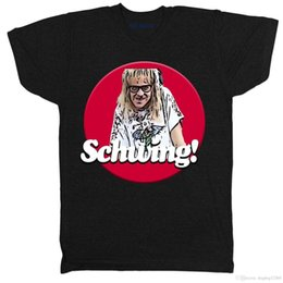 cb37992915 Schwing Waynes World Movie Film Comedy Funny 80s 90s Tribute Black T Shirt  funny movie t shirts promotion