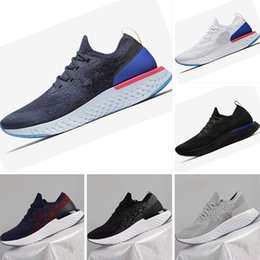 Wholesale Elastic Rubber Sports Running - 2018 New Boost Epic React Knitting Casual Running Shoes High Elastic Boost Men and Women Sports Trainer Sneakers