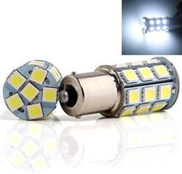 Canada Voiture LED super lumineuse allume blanc 1156 1157 7440 7443 3156 3157 27-SMD 5050 Ampoules de clignotant de voiture inversent les lumières 12 V longue durée de vie cheap 27 bulb Offre