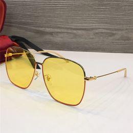 1f3abf444 Mulheres homem quadrado 0394S Óculos De Sol Claro Glitter Frame Cinza Marca  de Moda Óculos De Sol Do Desenhador para as mulheres novas com caixa ...