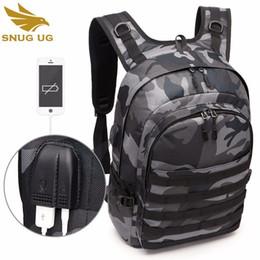 Usb-разъем для наушников онлайн-Мужская сумка Battlefield Backpack Многофункциональная крупная камера для камуфляжа Travel Oxford USB Headphone Jack Уровень игры 3 Сумка Bagpack