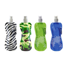 foldable bpa free water bottles wholesale Coupons - Wholesale-Free Shipping 50 Pieces 17oz Reusable Runway Foldable Water Bottle h2o Flask BPA Free