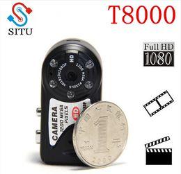 casos dvr Rebajas T8000 Full HD 1080P CMOS Mini Cámara 12.0 Mega Pix Videocámara Cámara de visión nocturna Miro Metal Case Cámara DVR T8000 / Q5 Mini DVR
