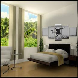 Esboços de fotos on-line-Unframed 5 Pcs Caráter figura abstrata esboço masculino Retrato Da Parede Da Arte Pintura de Impressão Na Lona Para Sala de estar Decoração de Casa