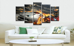 Wholesale Hd Car Pictures - Oil Painting Printed On Canvas Colorful Wall Pictures For Living Room Home Decor Wall Art Picture danger car wallpaper hd