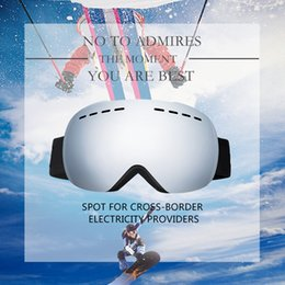 49f472ccfad Ski Snowboard Goggles Single Layer UV400 Big Spherical Glasses Men Women  Skiing Snowmobile Mask Snow Goggles With Box