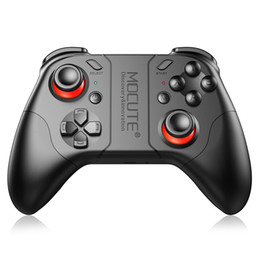 Wholesale Button Gamepad - Mocute 053 updated 050 Bluetooth Gamepad Crystal Button Android Joystick PC Wireless Controller Gamepad for smartphone VR TV BOX