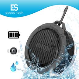 Ipx7 lautsprecher online-C6 IPX7 Outdoor Sports Dusche Tragbare Wasserdichte Drahtlose Bluetooth Lautsprecher Saugnapf Freisprecheinrichtung Sprachbox Für iphone 6 iPad PC Telefon
