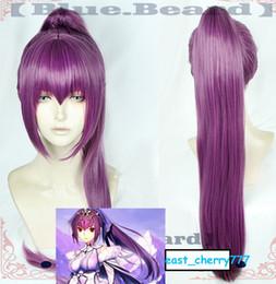 anime lila haare