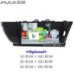 Wholesale Android Toyota Corolla - Android 6.0 Car DVD Player for Toyota corolla 2014 2015 2016 Right Drive with Radio DAB+ BT WIFI SWC GPS map