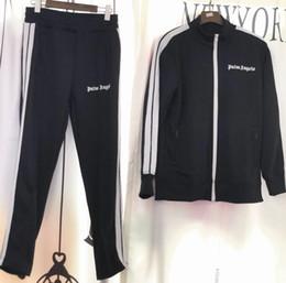 2018 New Palm Angels veste Femmes Hommes Haute Qualité Automne Hiver Streetwear Casaul Palm Angels PA arc-en-ciel Exclusif Veste À Cordon S-XL ? partir de fabricateur