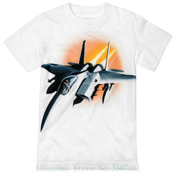 airplane jets Promo Codes - Little Boys' Fighter Jet Airplane T-shirt Loose Cotton T-shirts For Men Cool Tops T Shirts