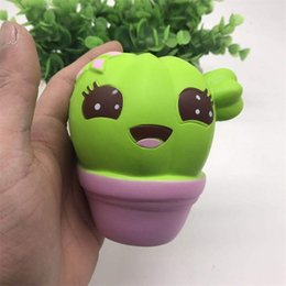 Wholesale Art Cactus - PU Squishy Decompression Toy Cartoon Lovely Cacti Squeeze Healing Anti Stress Slow Rising Squishies Toys Hot Sale 14syb C R