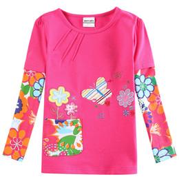 красный цвет цветы бахрома новорожденных девочек одежда девушка Майка 2018 Девушки мода детские печатных цветочные девушка футболки детская одежда повседневная от Поставщики красная одежда