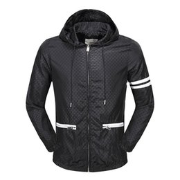 Wholesale Sexy Red Leather Jacket - best clothing famous designer luxury g Brand jackets for men red green striped hooded belt patchwork embroidery letter leather jacket coat