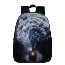 Wholesale kids oxfords - 2017 New Style Oxford 16 Inches Printing Train Kids Baby School Bags Women Backpacks for Teenagers Girls Schoolbag Boys Bookbag
