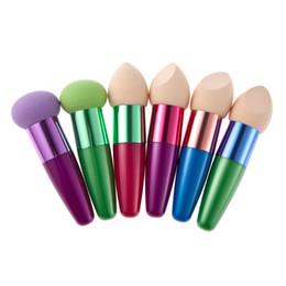 colores de licuadora de belleza Rebajas 15 colores diferentes en forma de fundación no látex maquillaje esponja Eco Blender belleza cosméticos soplo esponja cepillo herramienta de maquillaje AP144