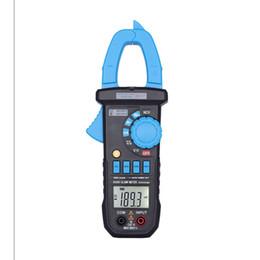 2019 medidor de grampo rms NOVA Digital Clamp Meter Com Detector de Tensão AC Atual Multímetro Digital Amperímetro Faixa de Freqüência de Capacitância Medidor de Voltímetro Elétrico