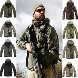 Wholesale Lurker Shark Skin Tactical Jacket - 2018 High quality Lurker Shark Skin Soft Shell Men's Outdoors Military Tactical Jacket Waterproof V.4 soft shell classic