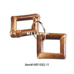 Vêtements chaussures sacs à main portefeuilles chapeaux ceintures mode ornements accessoires carré forme bambou racine fermeture éclair pendentif extracteur ? partir de fabricateur