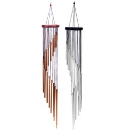 Portas para casas on-line-18 Tubes Wind Chime Yard Garden Outdoor Living Wind Chimes Liga de alumínio Windchimes Home Door Hanging Bels Decoração Prenda