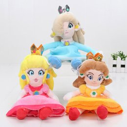 Wholesale Super Mario Peach - 3pcs 8'' 20cm Super Mario Bros Princess Soft Plush Stuffed Toy Doll Rosalina Peach